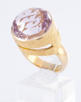 Bague or Améthyste Diamant